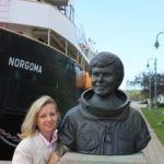 Statue honouring Roberta Bondar, Canada's first female astronaut