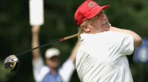 Trump on the golf course. (Image: Trump Golf)