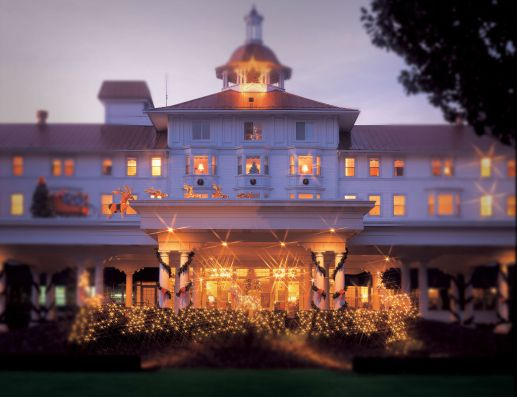 Carolina Hotel, Pinehurst, at Christmas (Image: Pinehurst Resort)