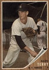 Ralph Terry 1962 Topps baseball card