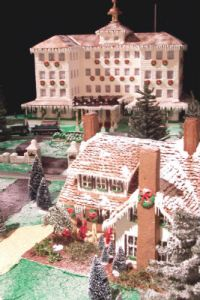 The Carolina Hotel, Pinehurst, in gingerbread (Image: Pinehurst Resort)