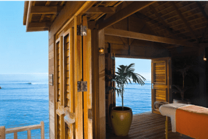 The Fern Tree Spa private oceanfront cabana. (Image: Half Moon Resort)