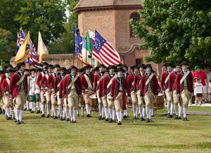Colonial Williamsburg militia (Image: Colonial Williamsburg)
