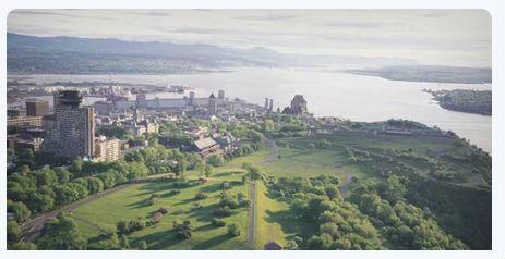 Aerial view of the Plains of Abraham Quebec (Image: Quebec City Tourism)