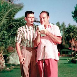 Bob Hope and son Tony (Image: O'Donnell Golf Club)
