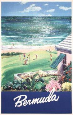 Bermuda golf poster, circa 1950.