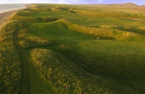 aerial photo of Askernish golf course on the Isle of South Uist, Outer Hebrides, Scotland (Image: Askernish Golf Club)