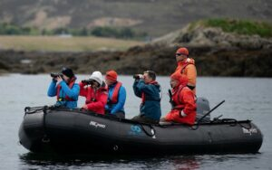 Nature watching by zodiak with One Ocean Expeditions, Scotland (Image: Boomer Jerritt/One Ocean Expeditions)