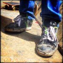 If your memories from when you grew up skating don't include shoes like this, then you just don't get it. This is Skateboarding, this is Bogota.