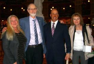 Victoria McCullough, Alex Atamanenko, Senator Abruzzo, and CHDC's Sinikka Crosland