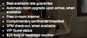 Visa Hotel Benefits