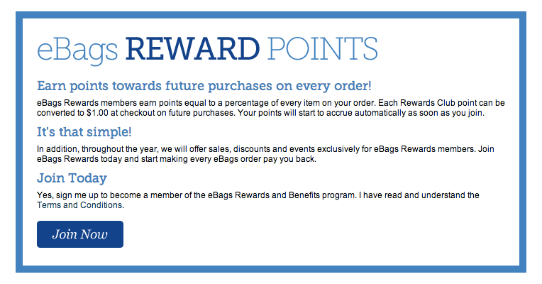 eBags Rewards