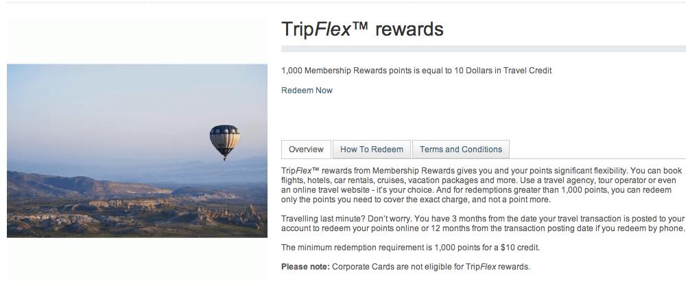 American Express Tripflex Display