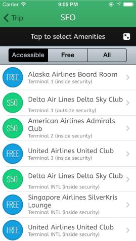 LoungeBuddy App Screenshot