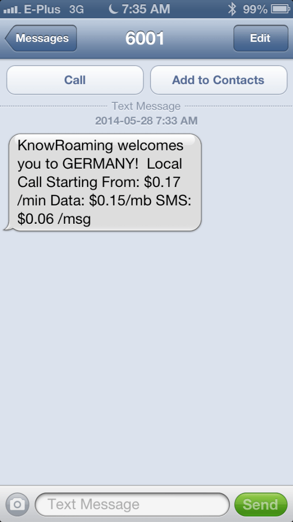 KnowRoaming Costs