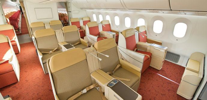 Air India 787 Business Class