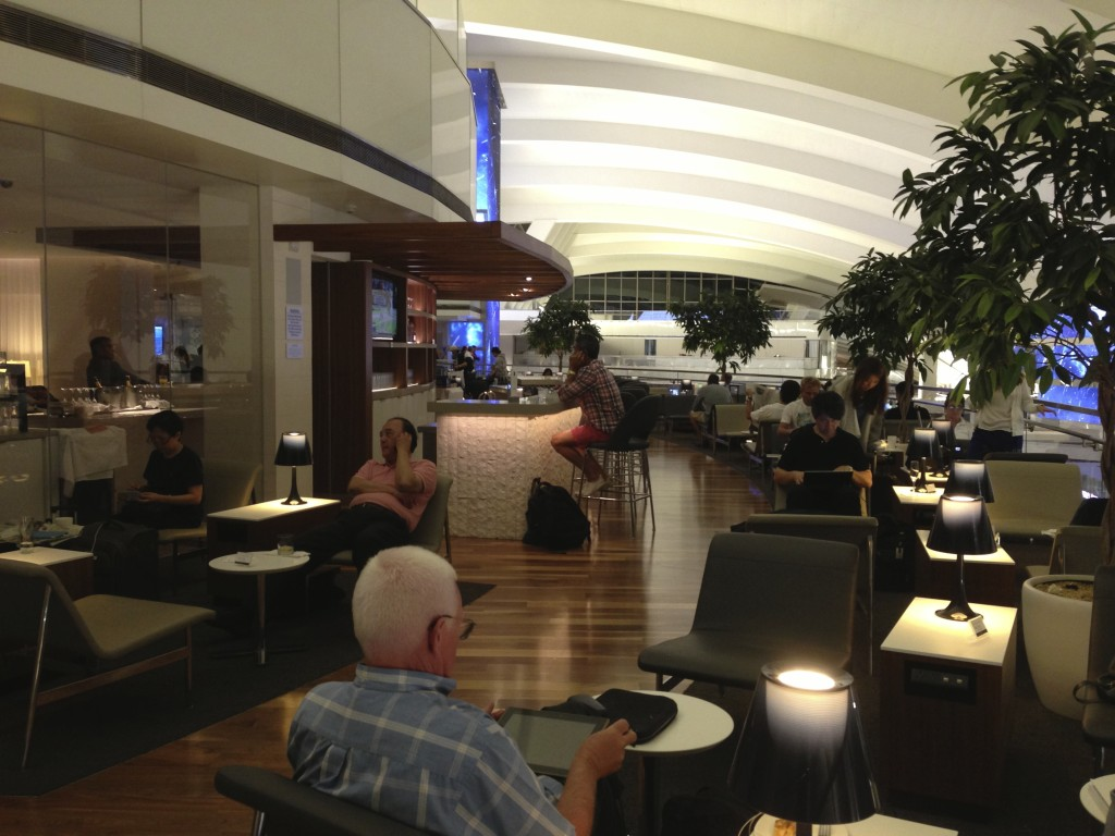 LAX Star Alliance Lounge Balcony Seating