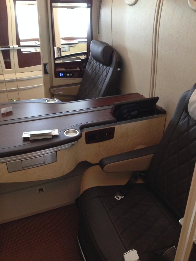 Singapore Airlines A380 Suites Center Ledge