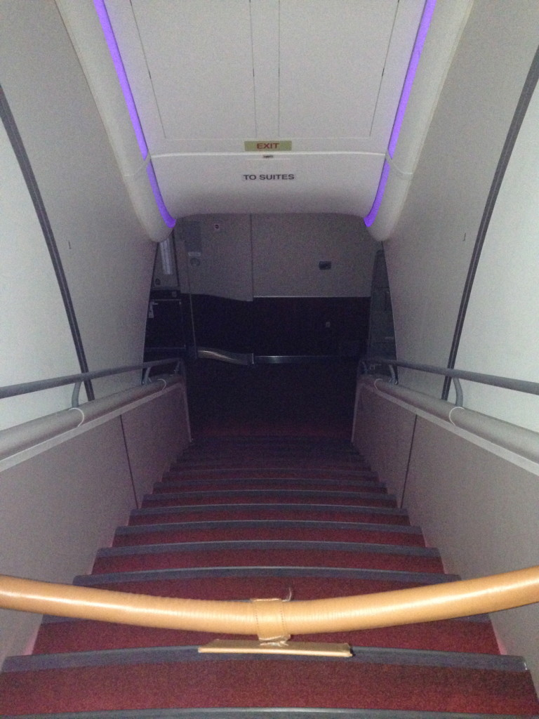 Singapore Airlines A380 Suites Stairs