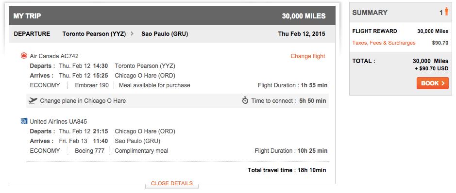 Toronto to Sao Paulo, $96.