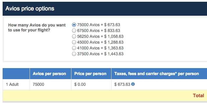 Avios Award LHR-YVR Price