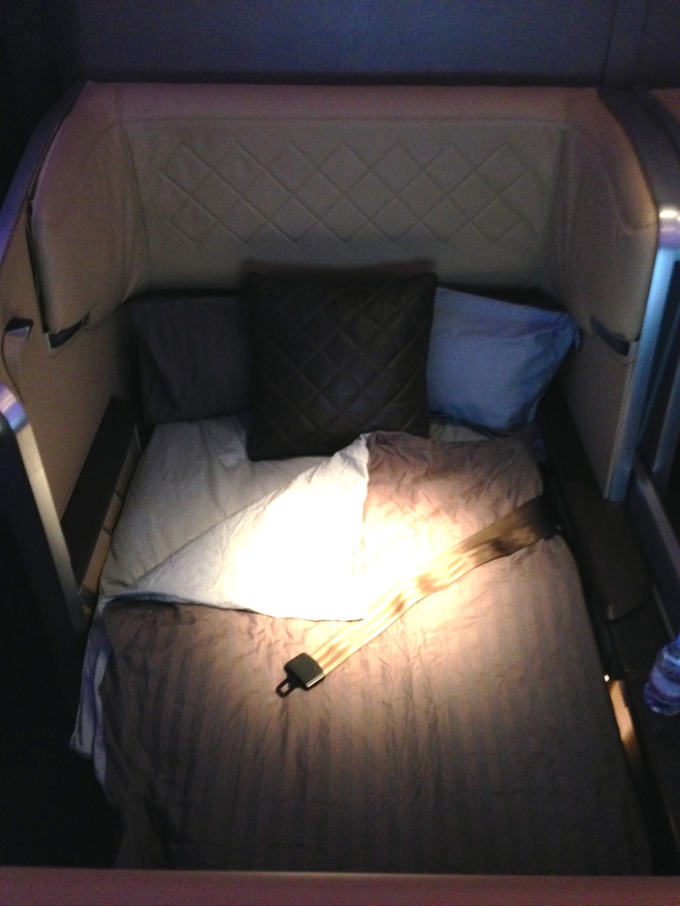 Singapore Airlines First Class Bed
