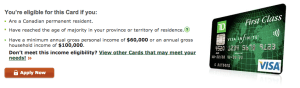 TD First Class Visa Infinite Increased Offer