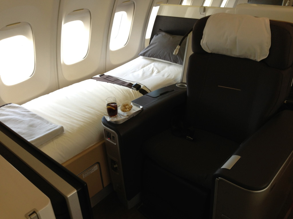 Lufthansa First Class on the Boeing 747-400