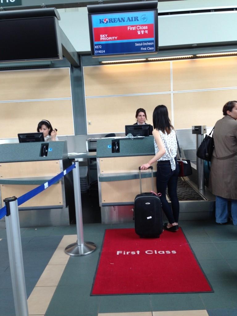 Korean Air YVR Check-in