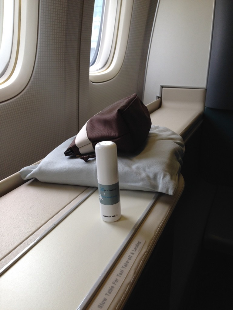 Korean Air First Class Review Pyjamas and Amenity Kit