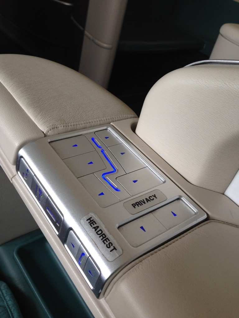 Korean Air First Class Review Seat Controls