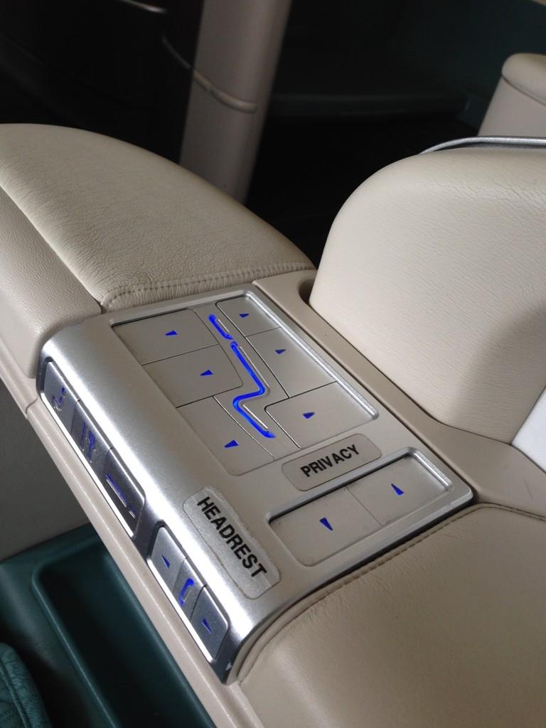 Korean Air First Class Review Seat Controls