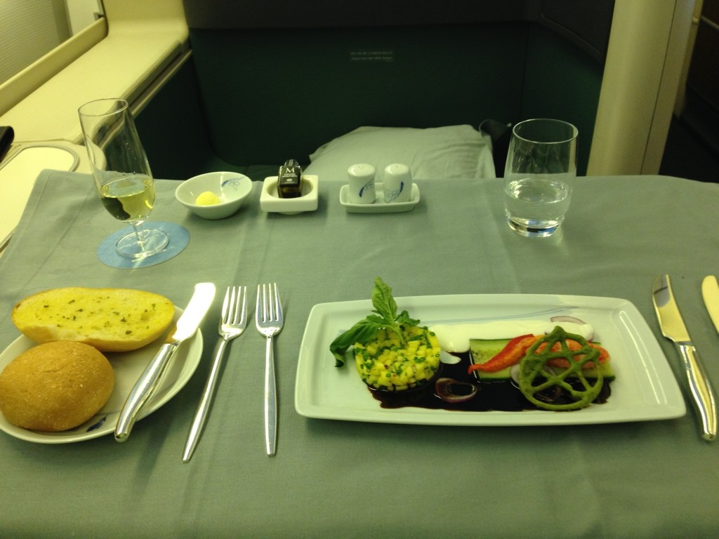 Korean Air First Class Review Appetizer