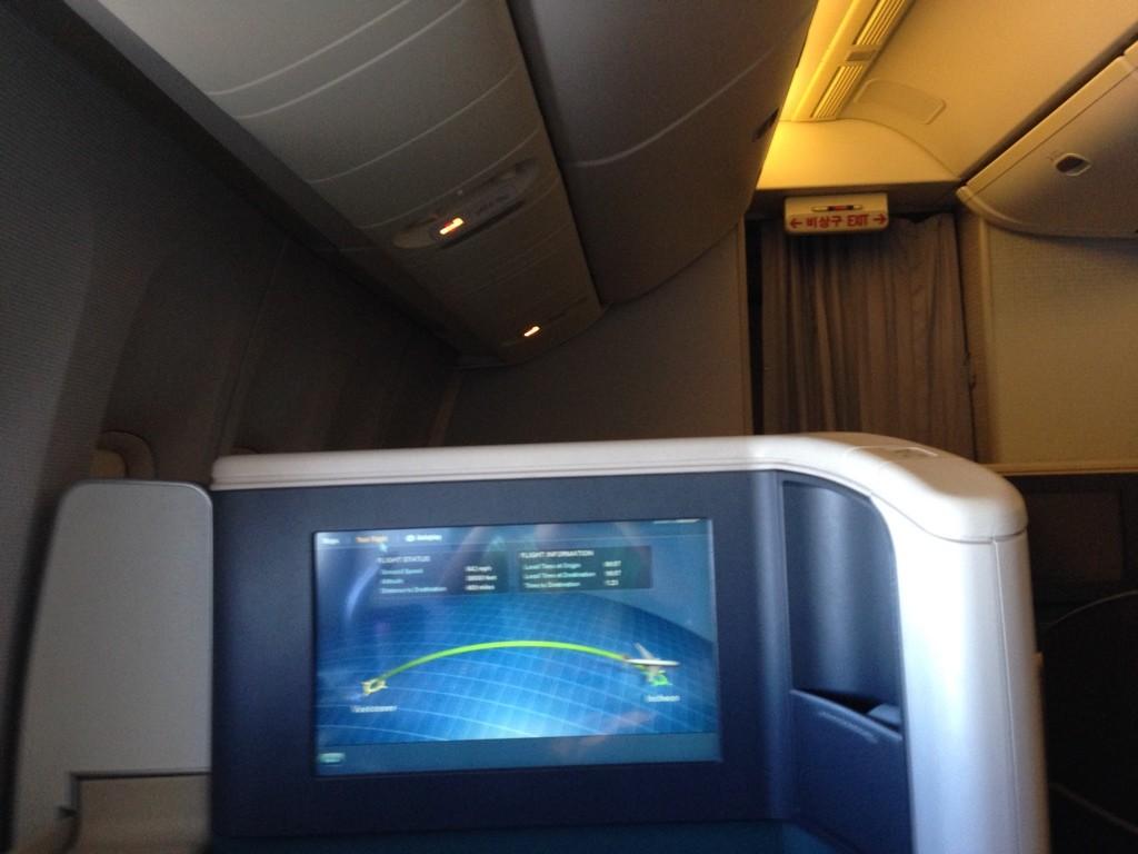 Korean Air First Class Review IFE