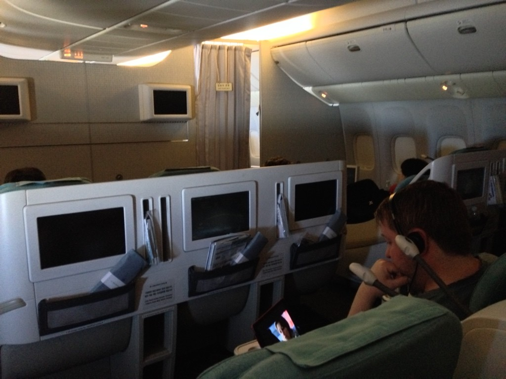 Korean Air First Class Review Business Class Seats