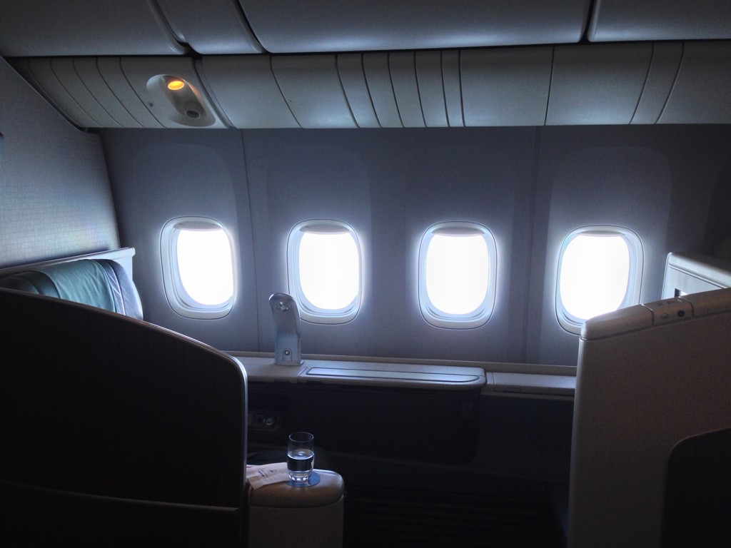 Korean Air First Class Review Row 2