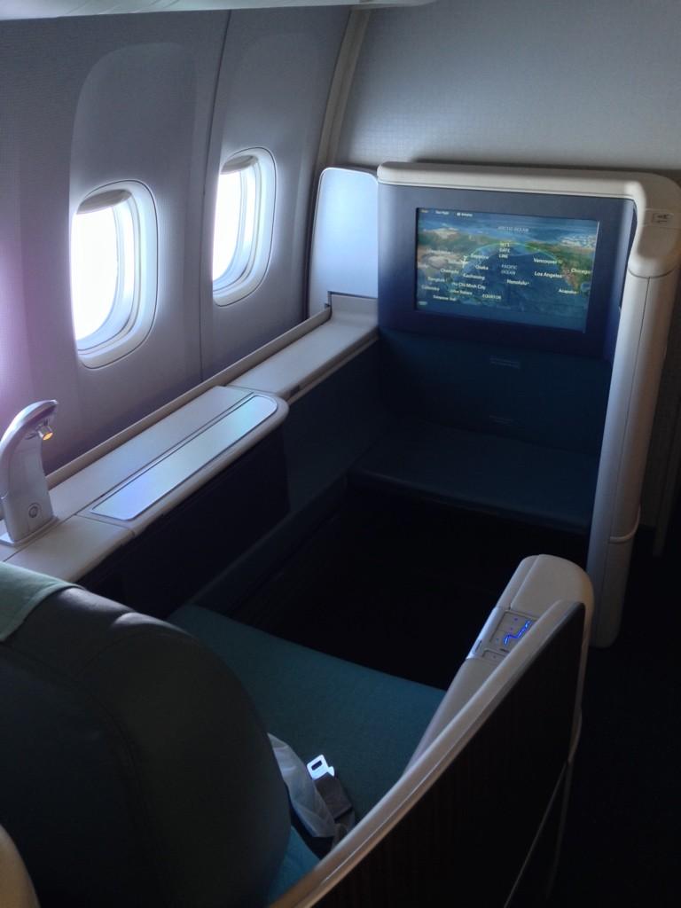 Korean Air First Class Review Row 1