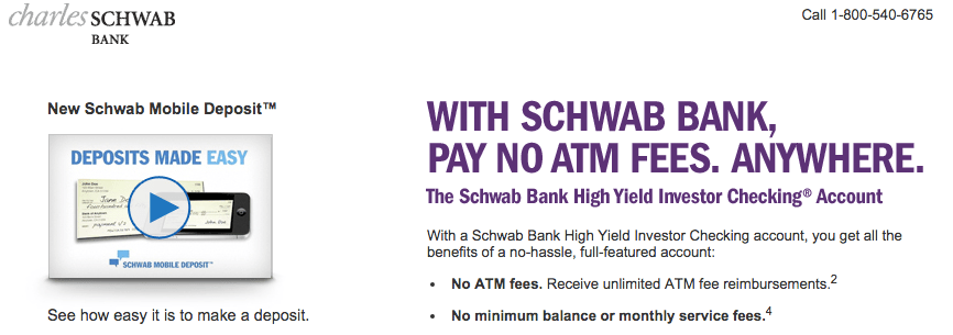 Schwab Bank No ATM Fees