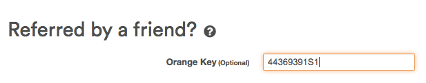 Inserting Orange Key
