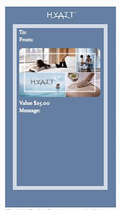 Hyatt e-gift Cards