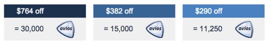 Another $764 discount for 30,000 Avios