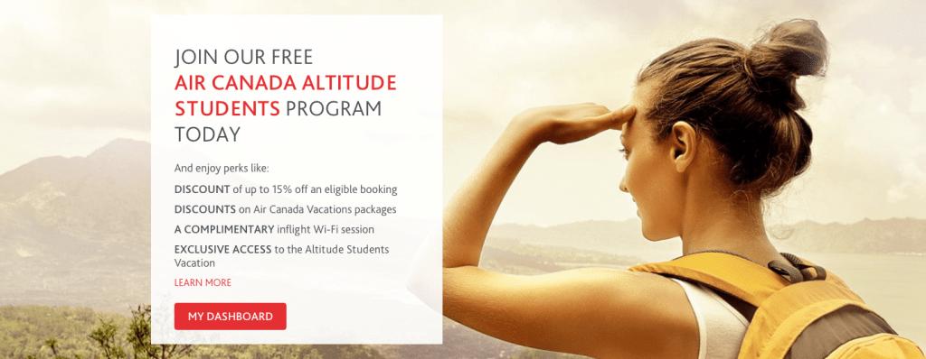 Air Canada Altitude Students Program
