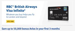 RBC British Airways 50000 Credit Card Offer