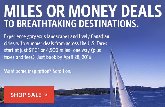 Delta Airlines Award Sale Canada