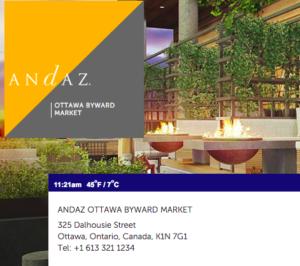 Andaz Ottawa Review