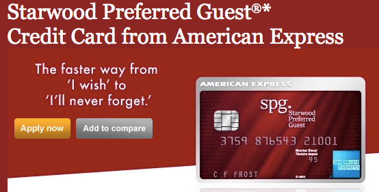 SPG American Express - 25,000 Miles (Increased)