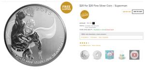 Manufactured Spend Canada- Mint.ca Superman $20 Coin