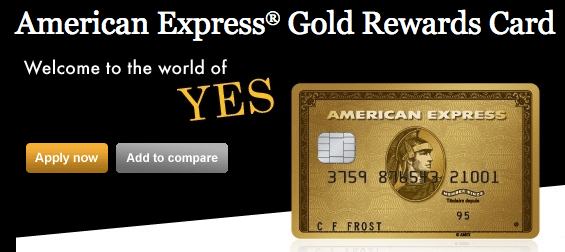 American Express Gold Rewards Card - 30,000 Points