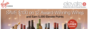 Virgin Wines Promo - 5000 Elevate Miles