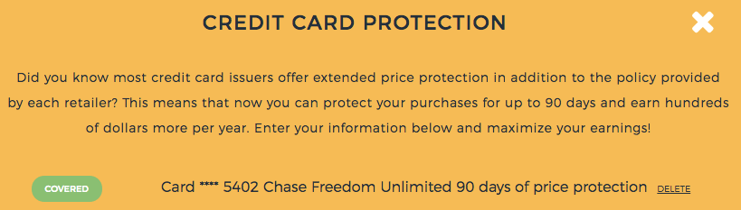 Earny Credit Card Price Protection